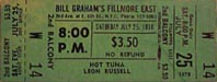 1970-07-25 Early ShowTicket
