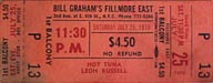 1970-07-25 Late Show Ticket