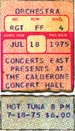 1975-07-18 Early Show Ticket
