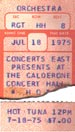 1975-07-18 Late Show Ticket