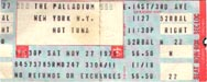 1976-11-27 Late Show Ticket