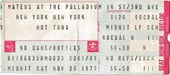 1977-11-26 Late Show Ticket
