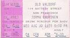 1978-08-30 Early Ticket