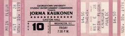 1978-11-10 Early Show Ticket