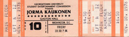 1978-11-10 Late Show Ticket
