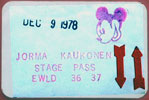 1978-12-09 Backstage Pass