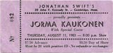 1983-08-11 Early Ticket