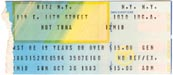 1983-10-30 Late Ticket