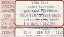 1985-03-24 Late Show Ticket