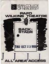 1986-10-23 Backstage Pass