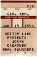 1999-01-15 Ticket Early Show