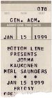 1999-01-15 Ticket Late Show