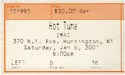 2001-01-06 Ticket Early Show