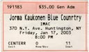 2003-01-17 Ticket Early Show