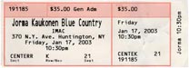 2003-01-17 Ticket Late Show